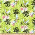 Tinkerbell Flannel Mystic Forest Allover Lime