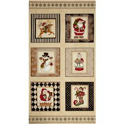 Holly Jolly Christmas Blocks Cream