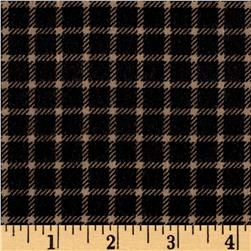 Timeless Treasures Oxford Flannel Shepherd's Check Tan