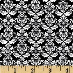Illustrations Damask Black