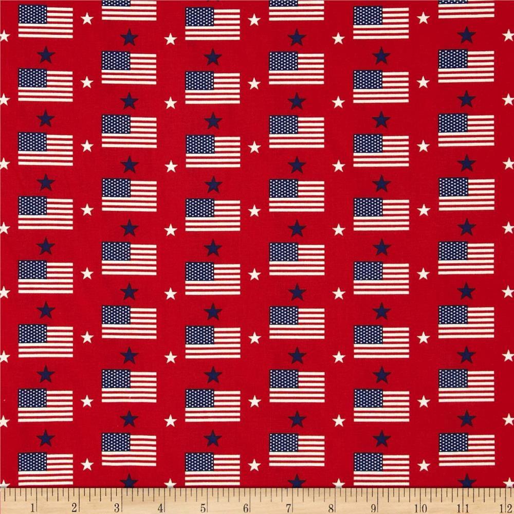 Made in the USA Flags & Stars Red,