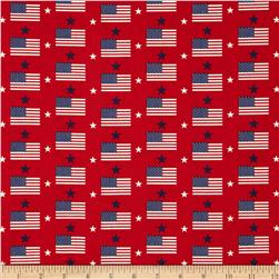Made in the USA Flags & Stars Red