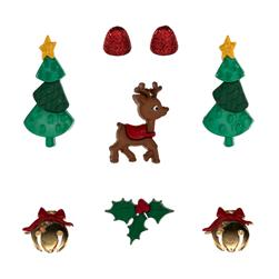 Dress It Up Embellishment Buttons Reindeer Games
