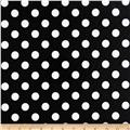 Riley Blake Laminate Medium Dots Black/White