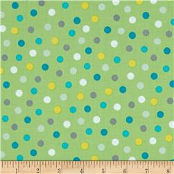 Animal ABC's Polka Dot Green