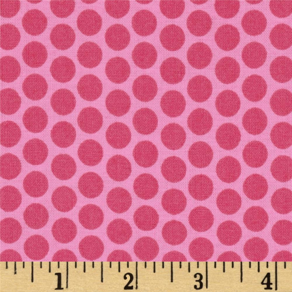 Riley Blake Honeycomb Dot Tone on Tone Hot Pink