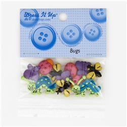 Dress It Up Embellishment Buttons  Bugs