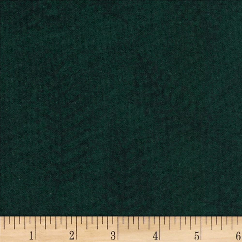 "110"" Wide Flannel Quilt Back Fern Green"