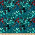 Cotton + Steel Lagoon Leafy Wonder Teal
