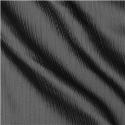 Satin Faced Crinkle Sheer Charcoal