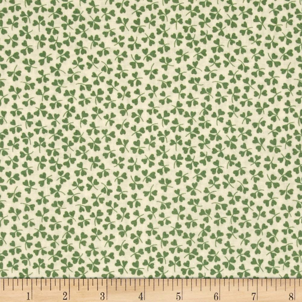 Summer Days Shamrocks Ivory/Green