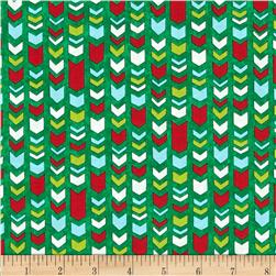 Moda Ho! Ho! Ho! Christmas Arrows Christmas Tree Green