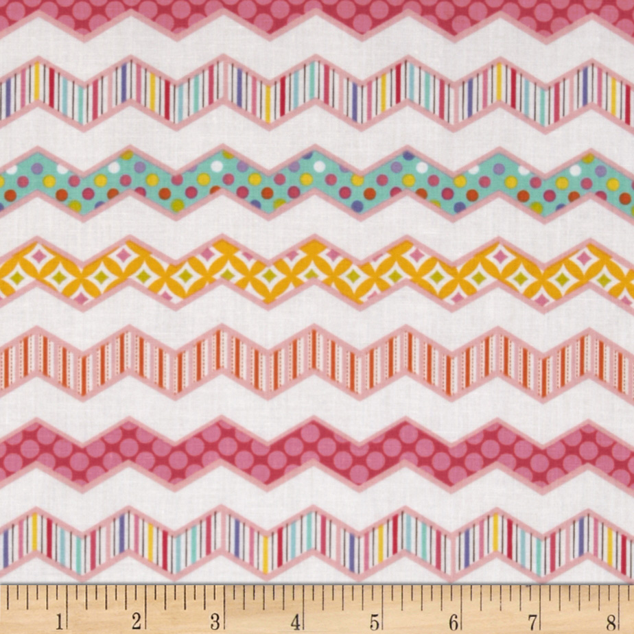 Happi Chevron Pink Fabric