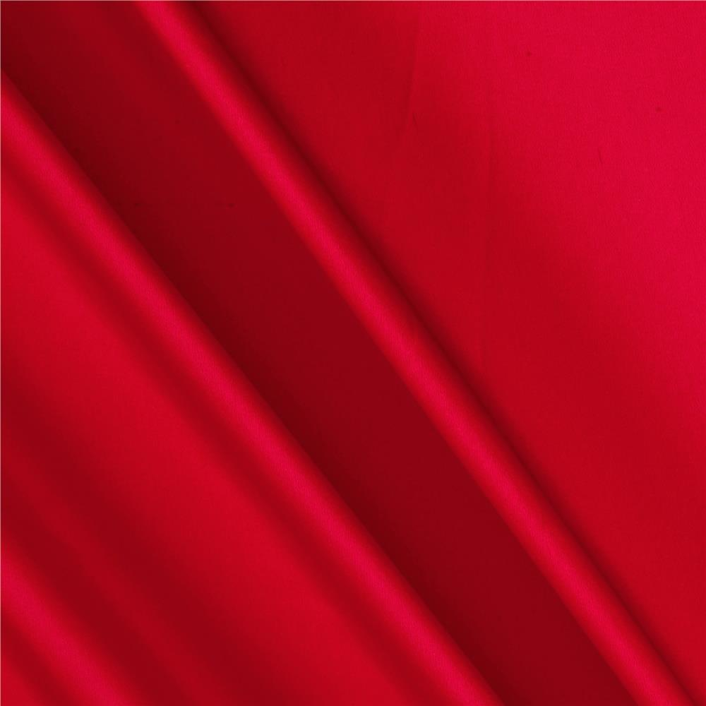 Charmeuse Satin Solid Red Fabric By The Yard