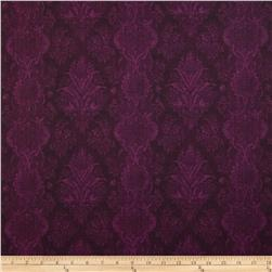 Joyful Blooms Damask Aubergine
