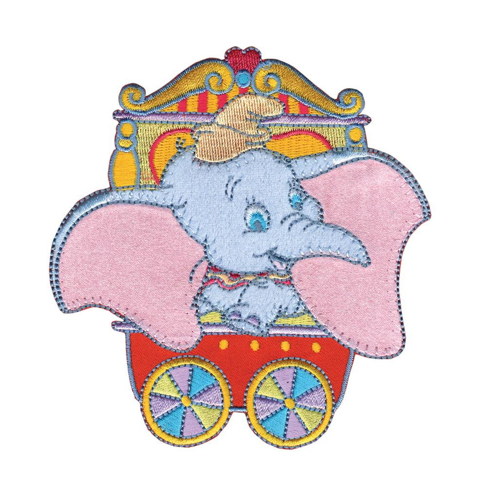 Disney Dumbo Iron On Applique Dumbo In Red Circus Car