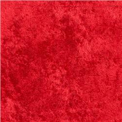 Crushed Panne Velour Red Fabric