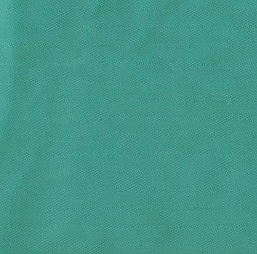 108'' Wide Nylon Tulle Teal Fabric