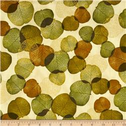 Shades of the Season 6 Metallic Autumn Leaves Scattered Autumn Cream