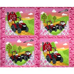 "Case IH Kid's Girl Pillow 36"" Panel Pink"