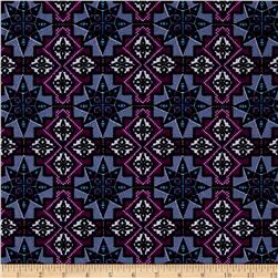 Urban Chic Geo Tribal ITY Knit Purple/Ivory/Lilac