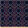 Urban Chic Geo Tribal Stretch ITY Knit Purple/Ivory/Lilac