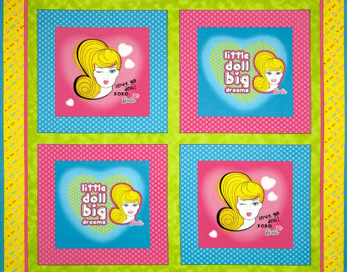 Barbie: Little Doll, Big Dreams Panel Pink/Blue