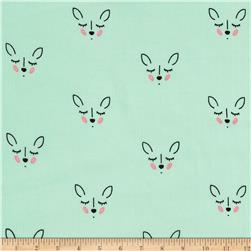 Riley Blake  Double Gauze Deer Mint