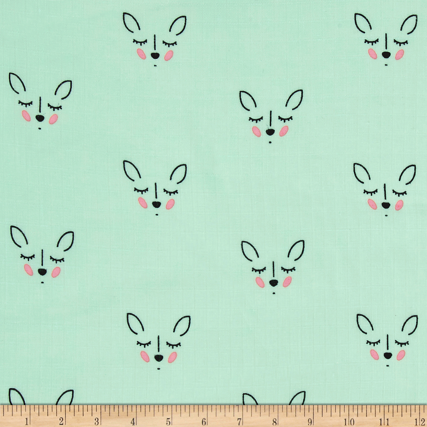 Riley Blake Double Gauze Deer Mint Fabric by Christensen in USA