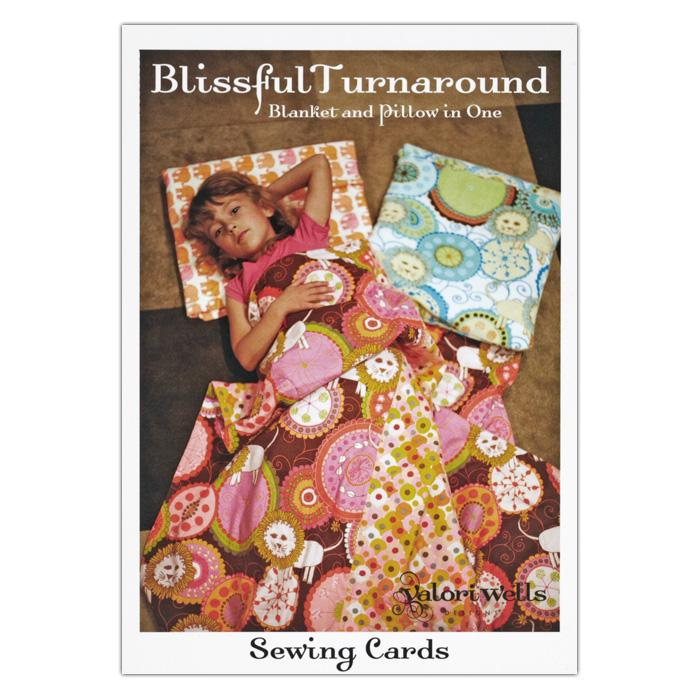 Valori Wells Blissful Turnaround Blanket & Pillow Sewing Card Pattern