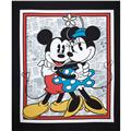 Disney Mickey Vintage Mickey & Minnie Panel Gray