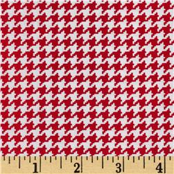 Michael Miller Tiny Houndstooth Rouge Fabric