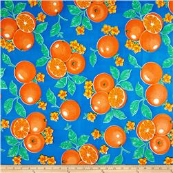 Oil Cloth Oranges Blue