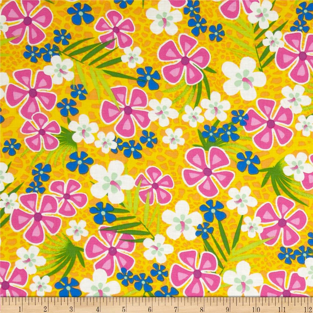 Beach Party Floral Golden Yellow