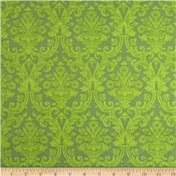 Christmas Tidings Damask Green