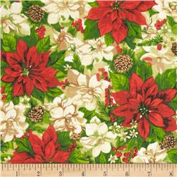 Deck the Halls Poinsettia Multi