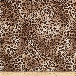 Comfy Flannel Leopard Brown Fabric