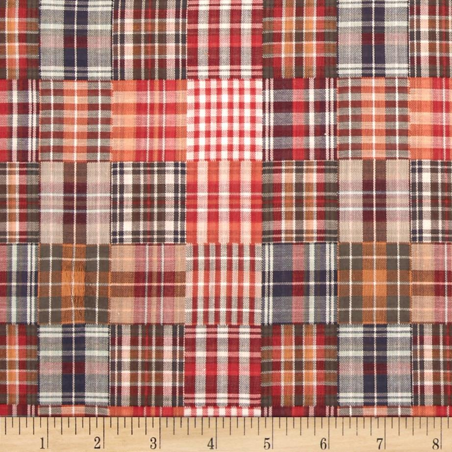 Designed Yarn Dyed Double Cloth Shirting Plaid Red/Orange