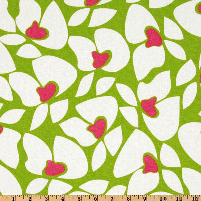 Premier Prints Helen Chartreuse/Candy Pink