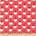 Riley Blake Santa Express Santa Claus Red