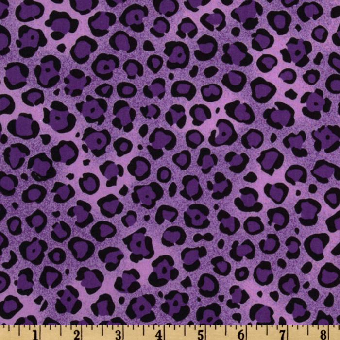 Animal Print Leopard Purple/Black Fabric