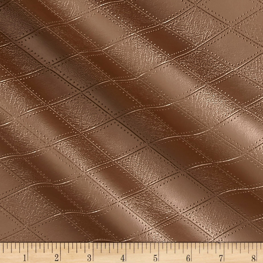 Richloom Tough Faux Leather Hovland Copper Fabric by TNT in USA