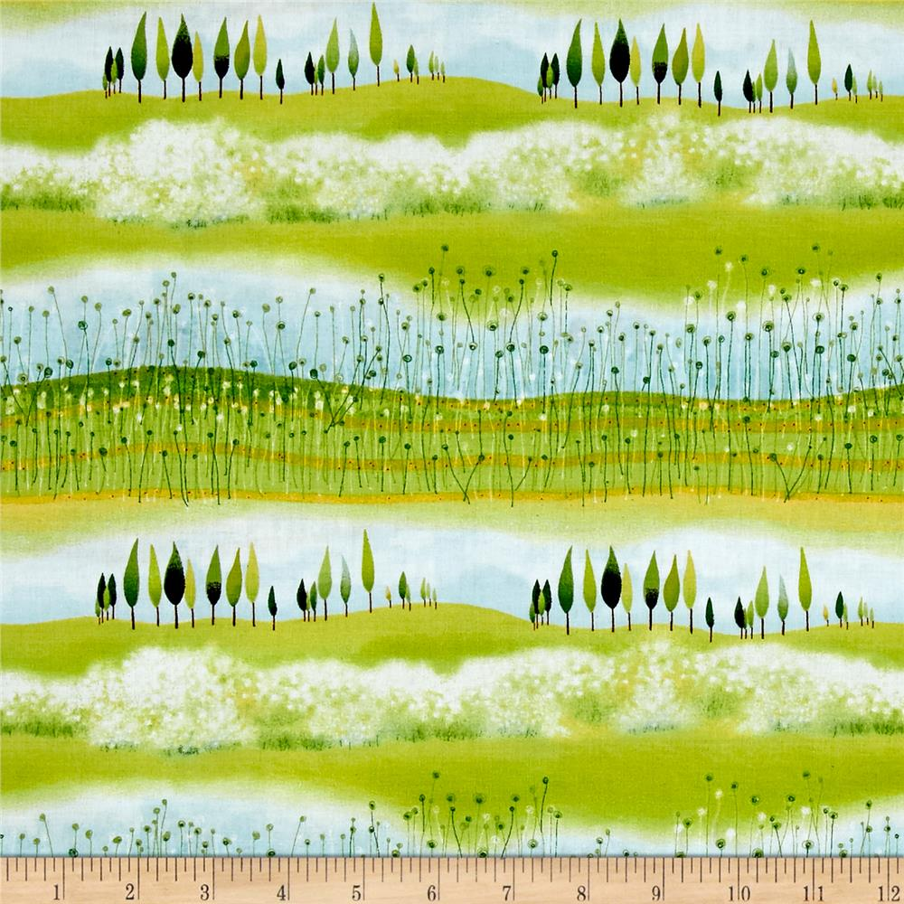 The Traveller Landscape Scenic Stripe Multi