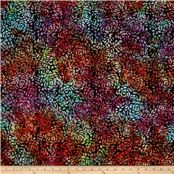 Anthology Batik Rosebud Multi/Black
