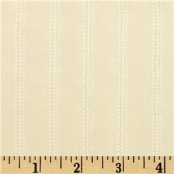 "60"" Open Weave Stripe Sheer Cream"