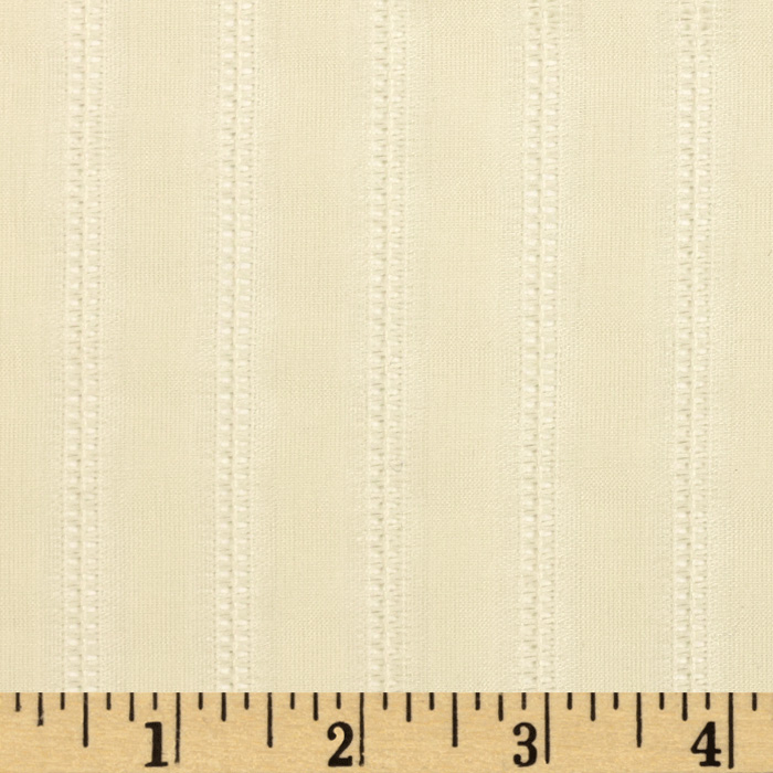 60'' Open Weave Stripe Sheer Cream Fabric