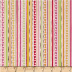 Riley Blake Ladybug Garden Flannel Stripe White