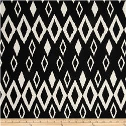 Picasso Rayon Poplin Diamonds Black Fabric
