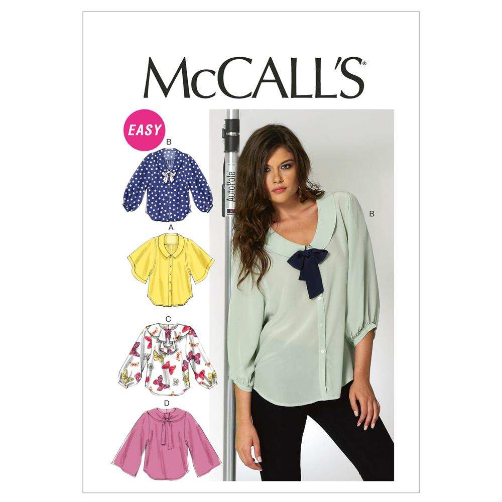 McCall's Misses' Blouses Pattern M6648 Size A50