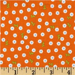 Riley Blake Summer Song 2 Petals Orange